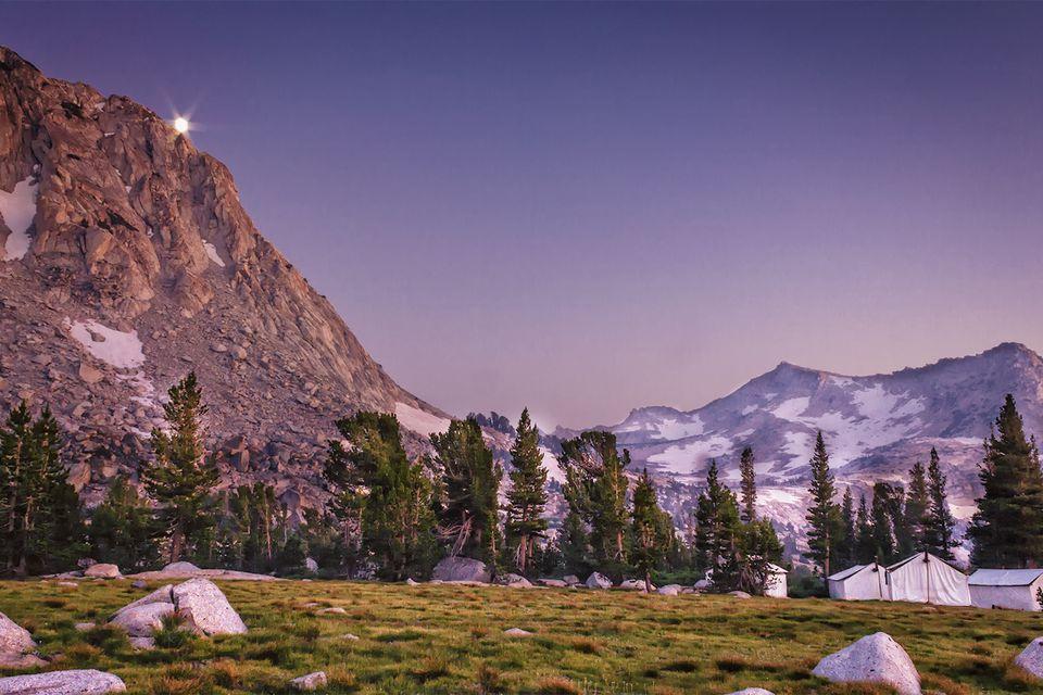 Moon Rise, Vogelsang High Sierra Camp, Yosemite