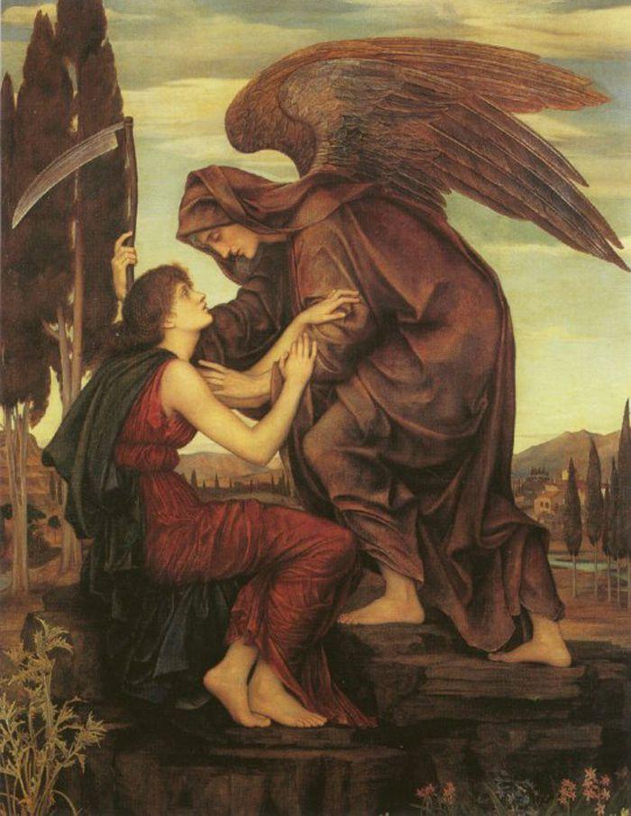 Ángel de la muerte por Evelyn De Morgan