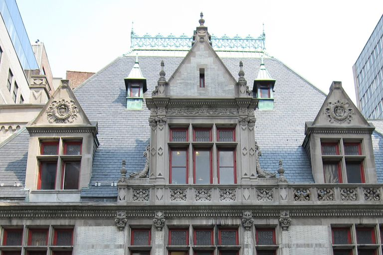 Upper Exterior Details of the 1895 Chateauesque Style Firehouse Designed by Napoleon LeBrun for Engine Company 31 on 87 Lafayette Street in New York City