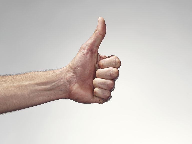 hand giving a thumb up