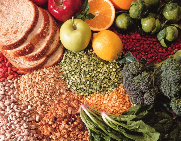 Fruit , vegetables and bread