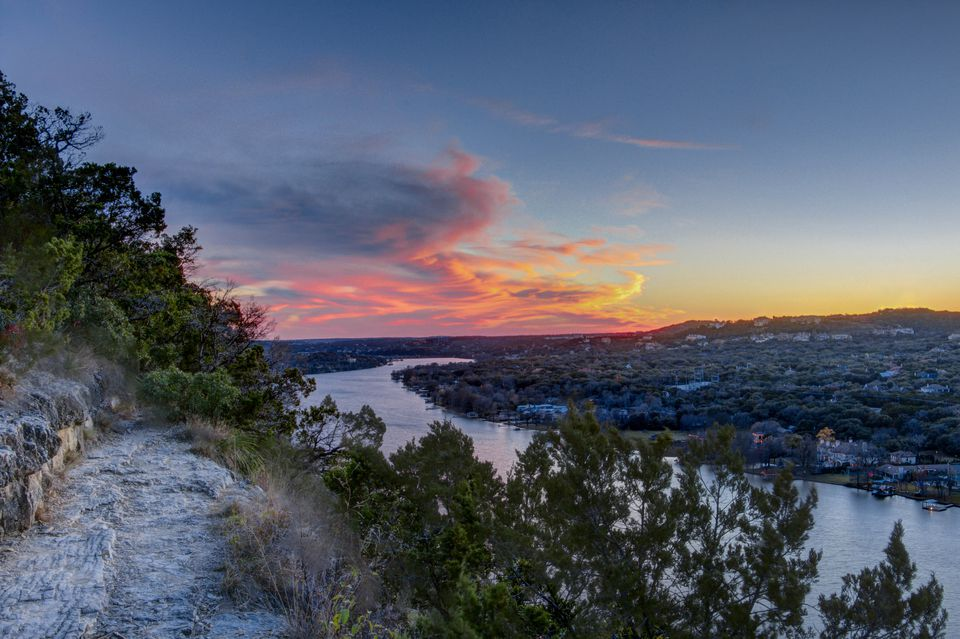 sunset at Mount Bonnell in Austin