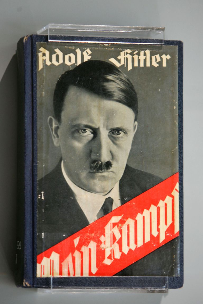 Picture of Adolf Hitler's book, Mein Kampf.