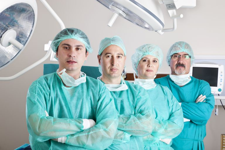 team of surgeons in the operating room