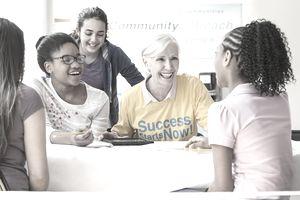 a happy volunteer tutor