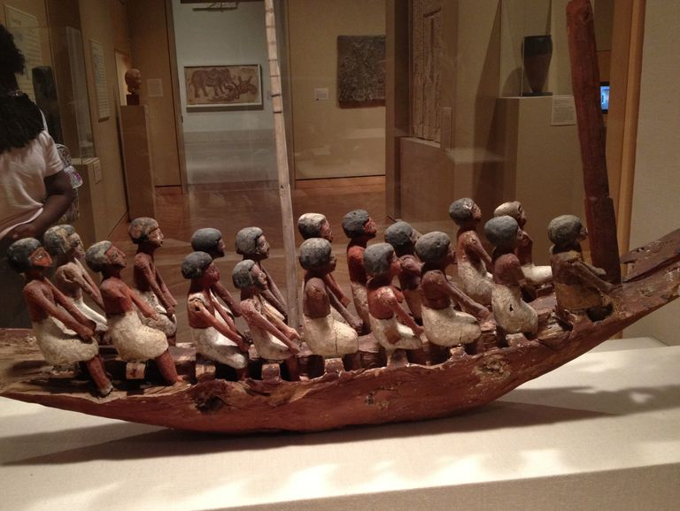 Nile Funerary River Boat from about 2000 B.C. from the Minneapolis Institute of Art.