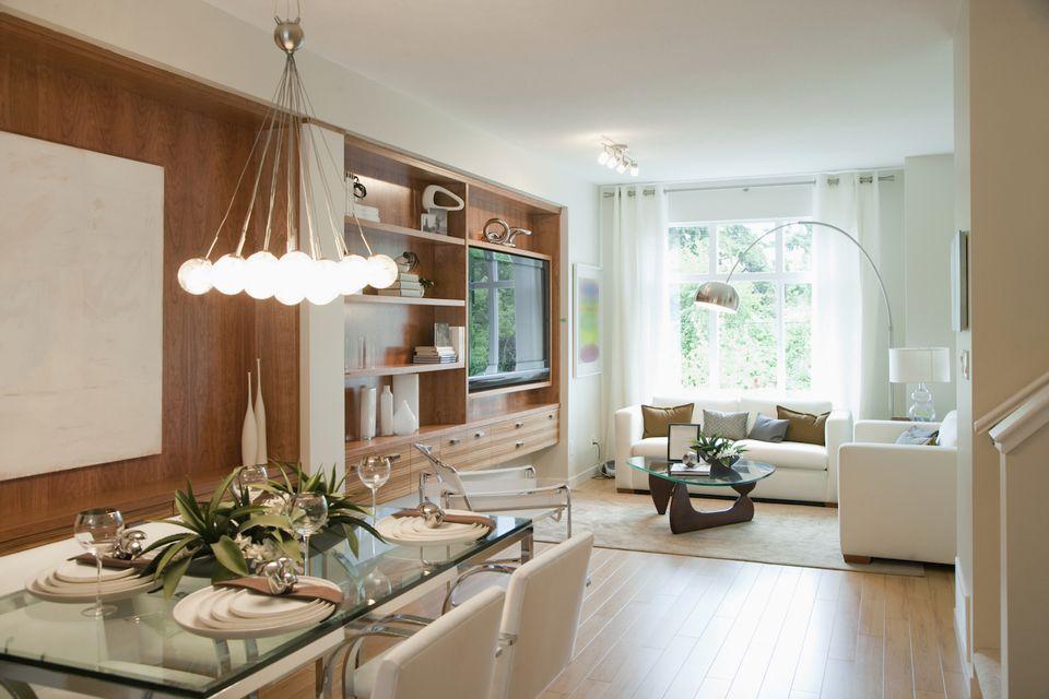 Lighting in interior home