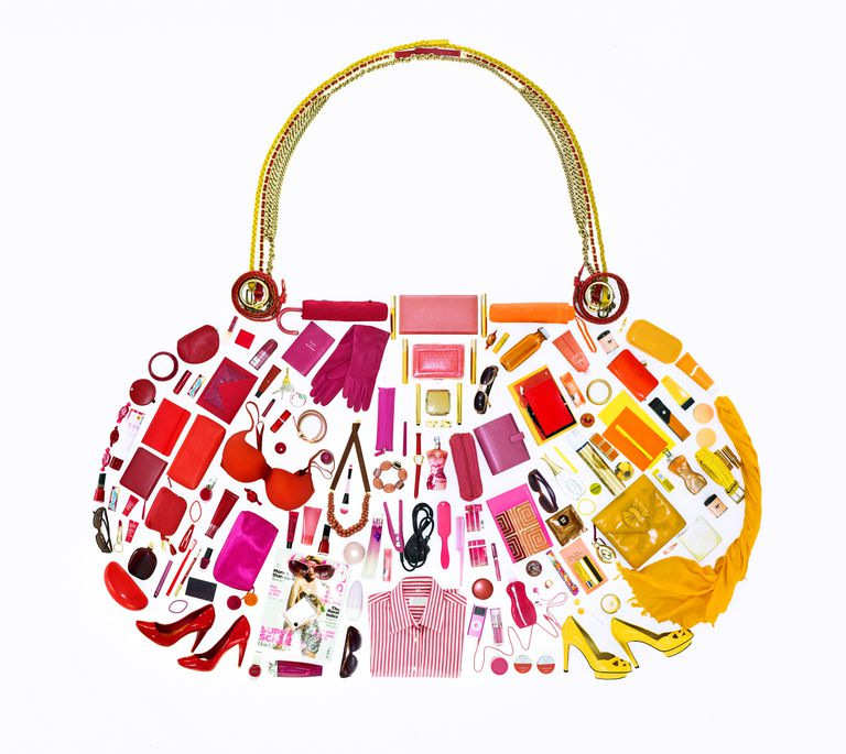 Women's belongings in shape of handbag