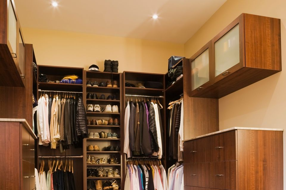 Luxury walk-in closet