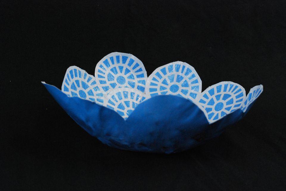 paper mache mod podge bowl