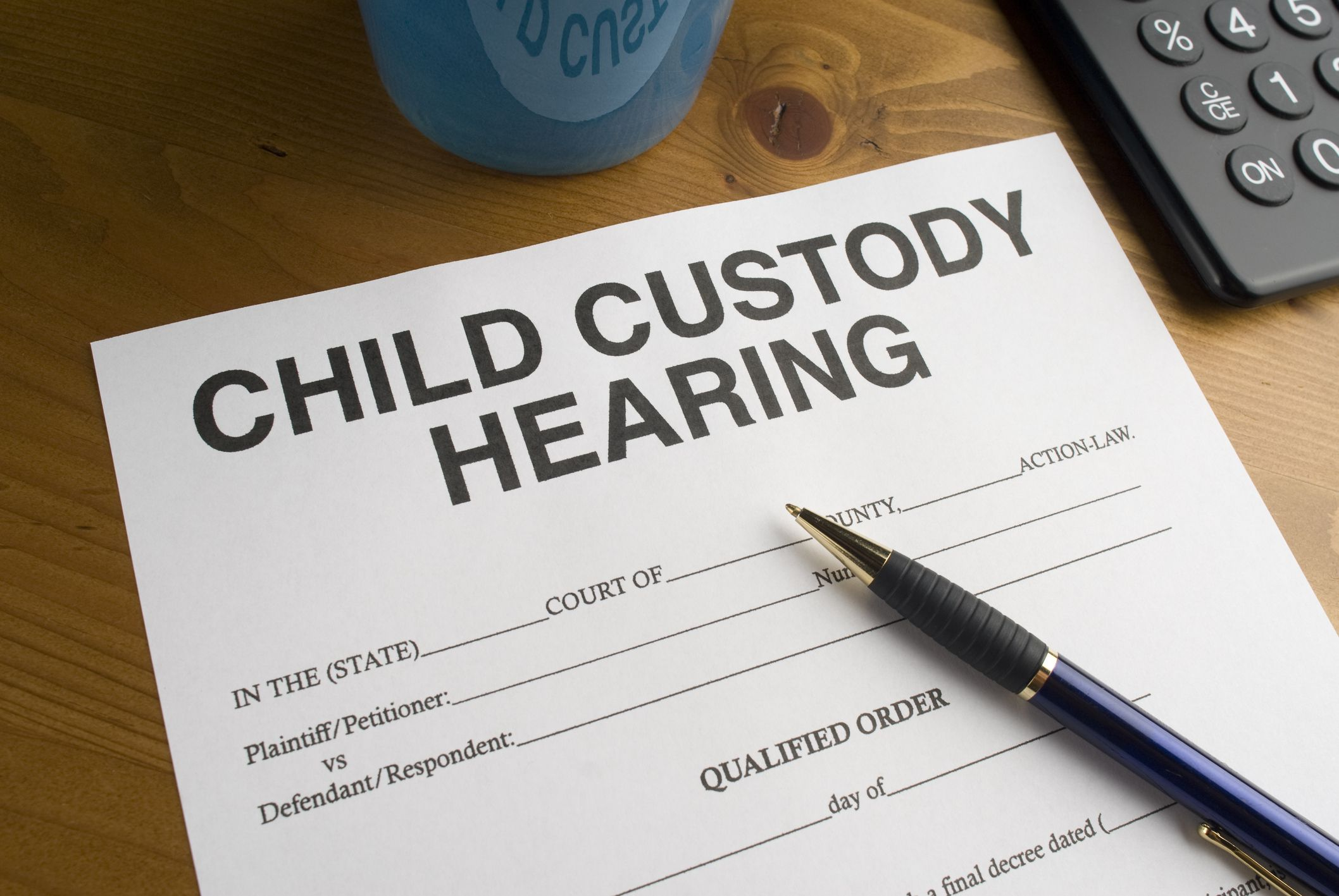 Divorce and child custody research paper