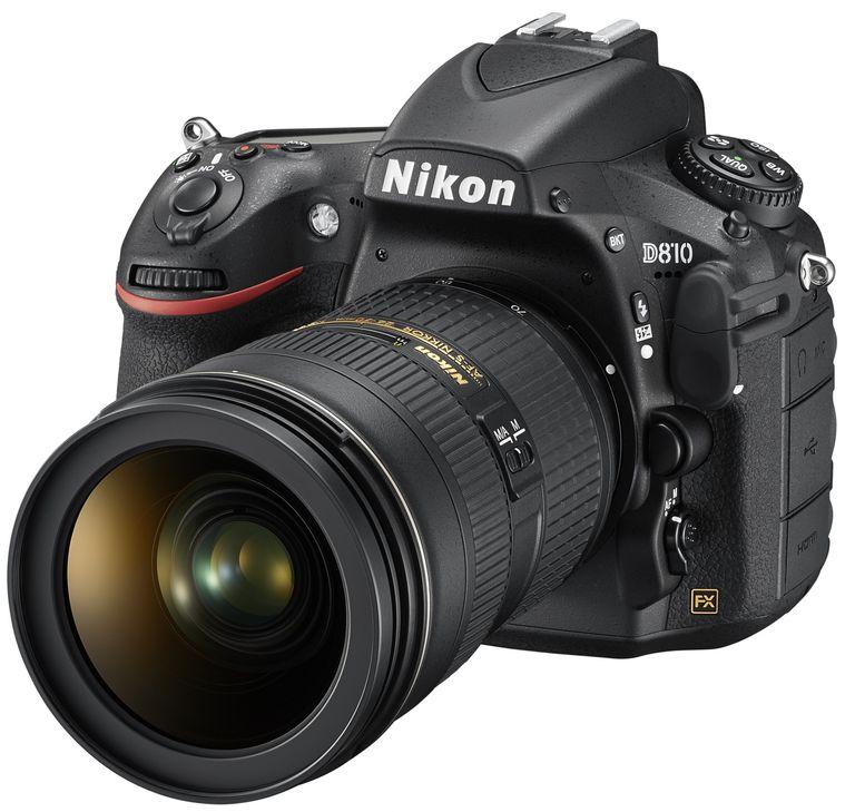 The Nikon D810 DSLR camera