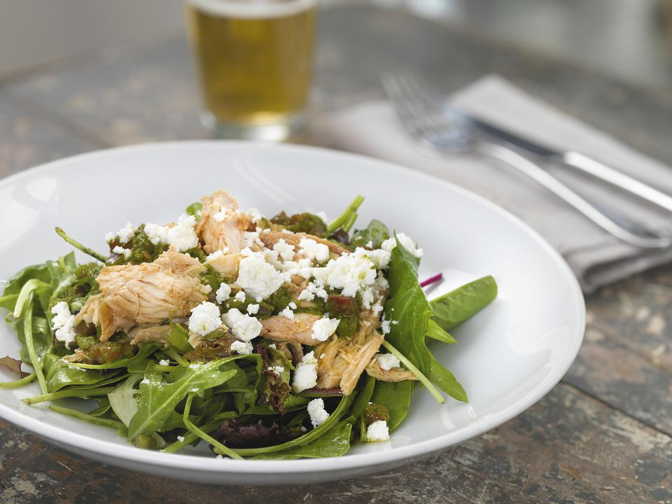 Grilled Chicken and Feta Salad