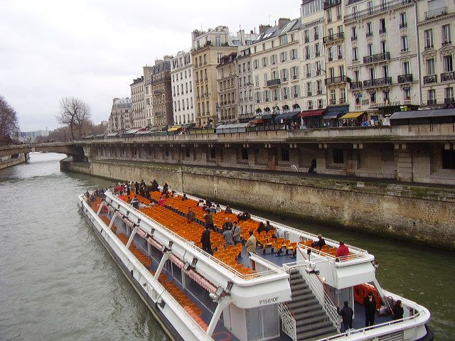 Bateaux Mouches' panoramic decks are a common sight in Paris.