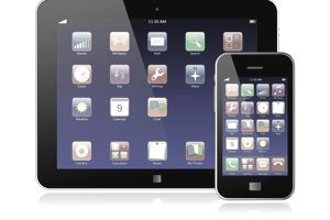 Apps on mobile phone and tablet