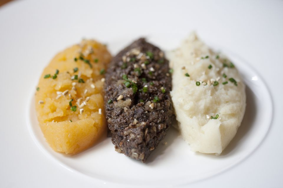 Mashed turnip and potato puree