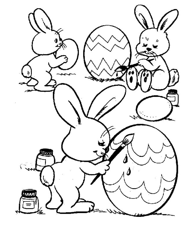 Free Printable Easter Coloring Pages for the Kids