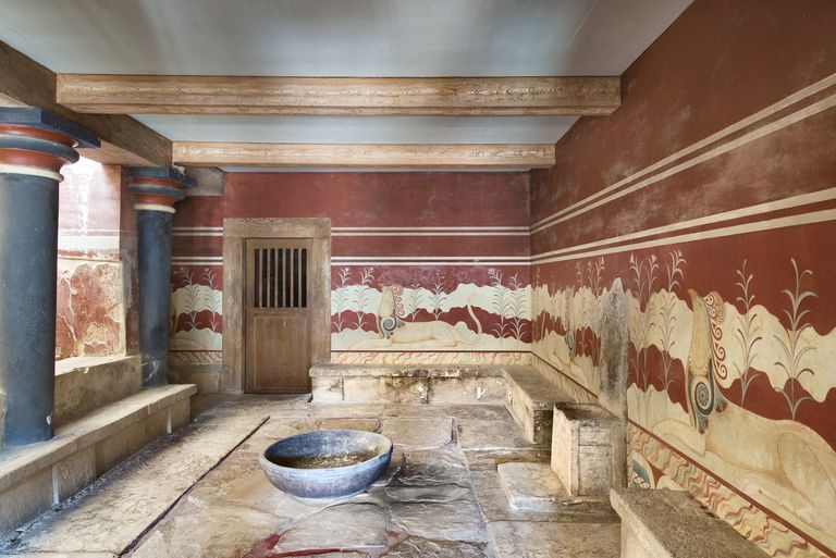Throne Room, Palace of Knossos, Crete, Greece