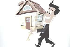 Illustration of a new home buyer