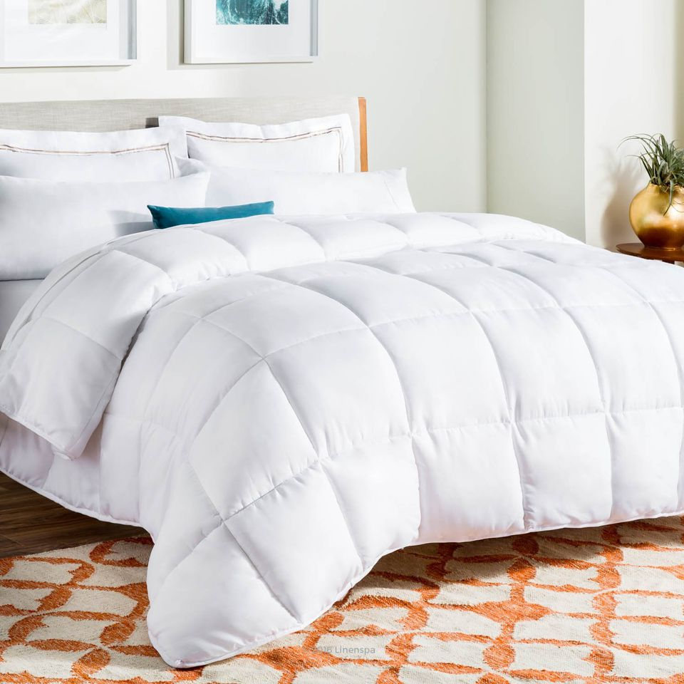 white down fill pacific goose comforter coast eddie power bauer