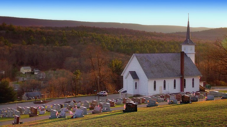 Scenic photo of Saint Matthew's Church in Kunkletown, PA.