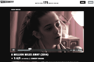 Screenshot of the movie A Million Miles Away playing at Free Movies Cinema