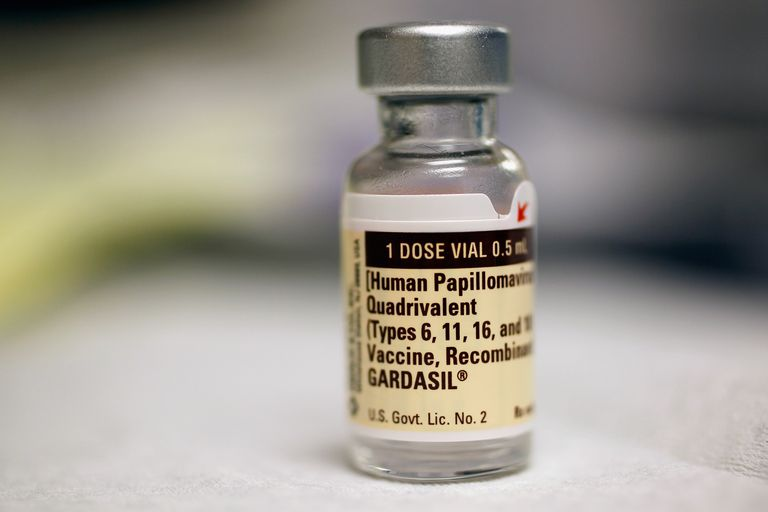 Vial of HPV vaccine