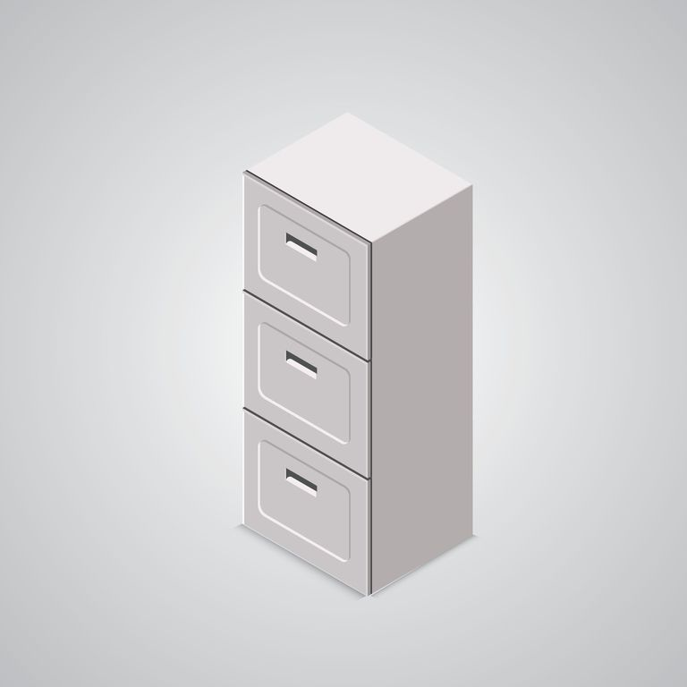 Isometric office cabinet