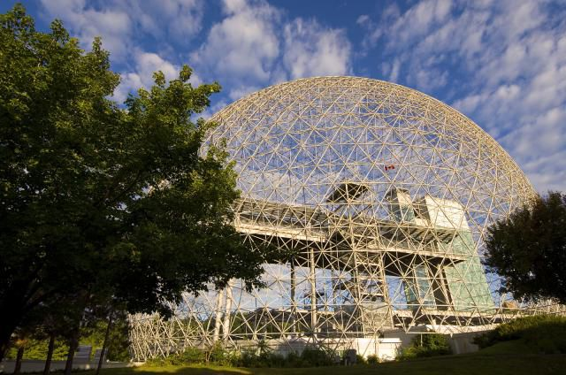 The Montreal Biosphere is a geodesic dome designed by Buckminster Fuller.