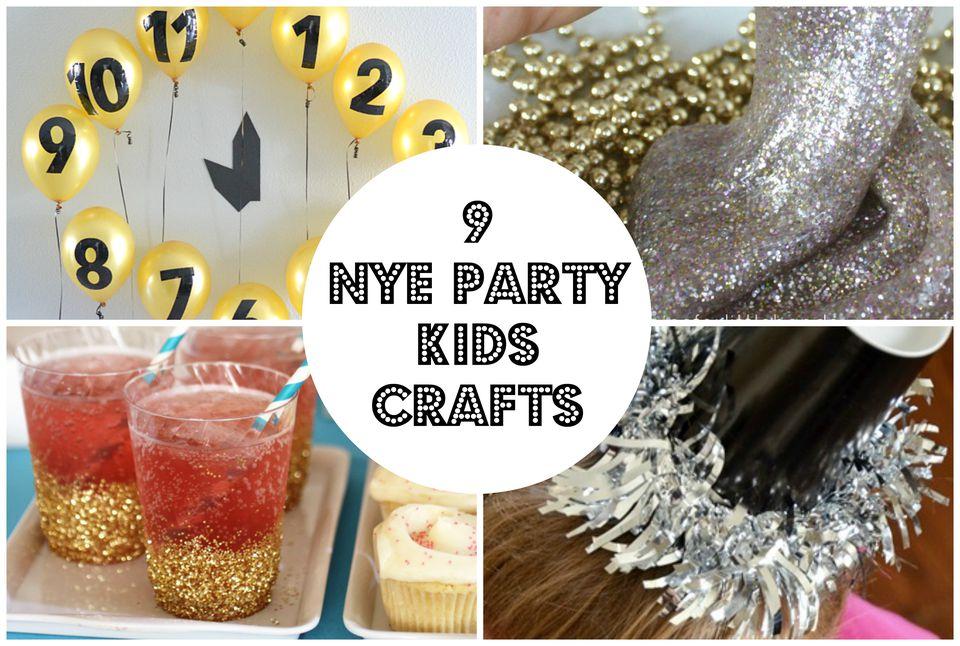 9 NYE Party Kids Crafts