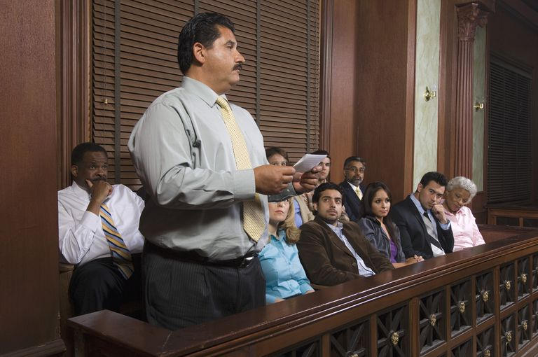 Juror announcing decision