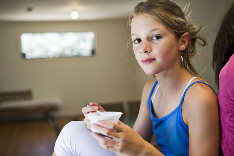 Yogurt is a good protein snack for kids