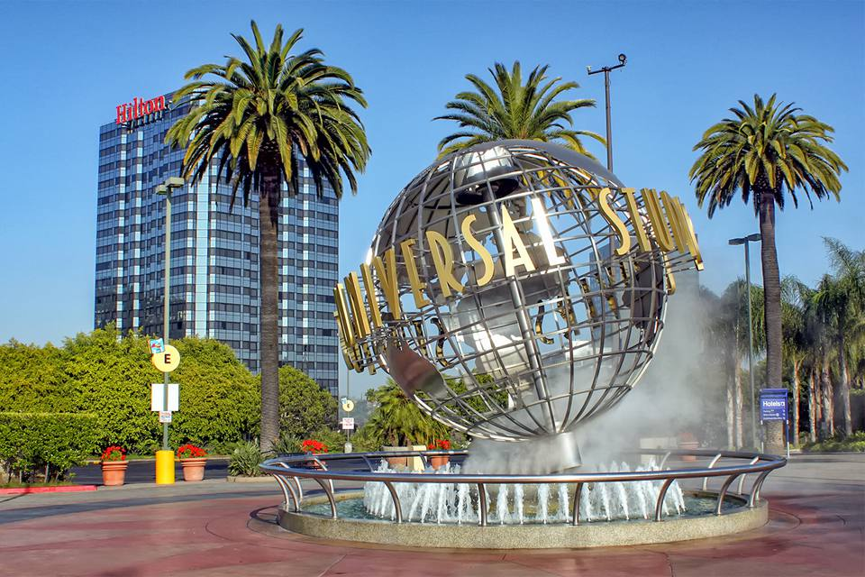 Universal Studios and the Hillton Hotel