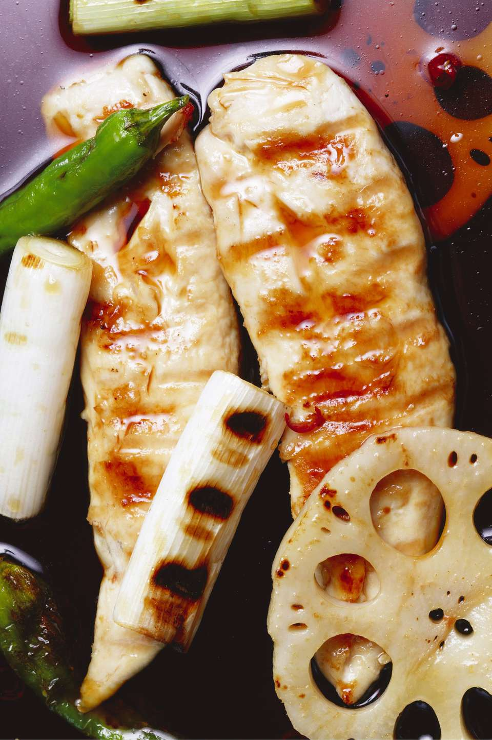 Grilled Sake and Soy Chicken Breasts