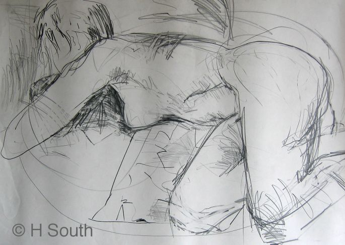 Contour Line Drawing People : Figure drawing with line and contour