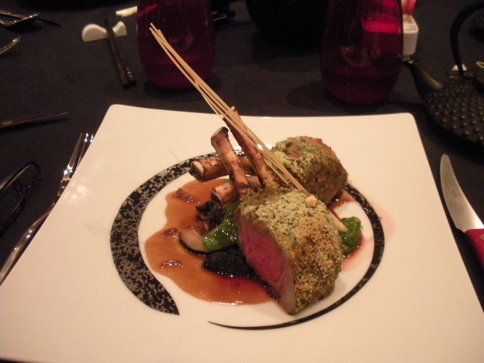 Lamb dish at Red Ginger on the Oceania Riviera cruise ship