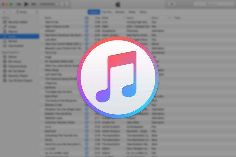 iTunes window with iTunes logo