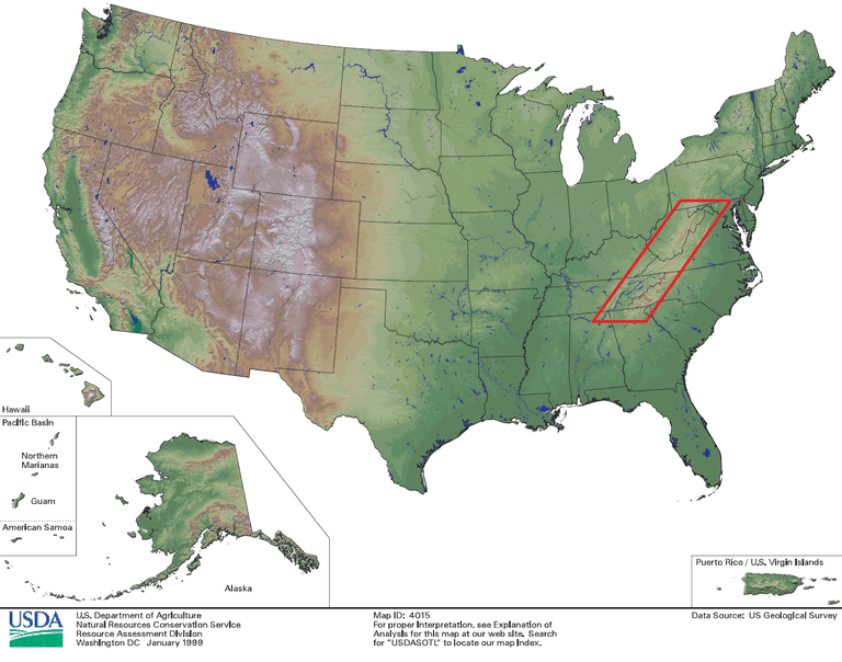 How Geography Shapes US Regional Weather - Us map with appalachian mountains