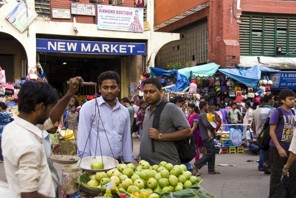 Outside New Market, Kolkata.
