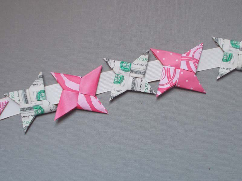 Money Origami Ninja Star