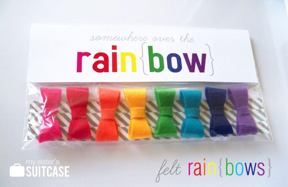 DIY Rainbow Hair Clips