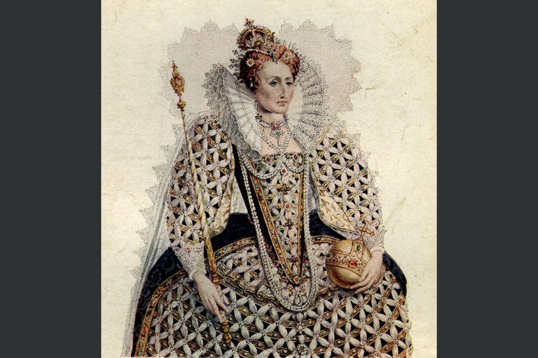 Queen Elizabeth I with crown, sceptre