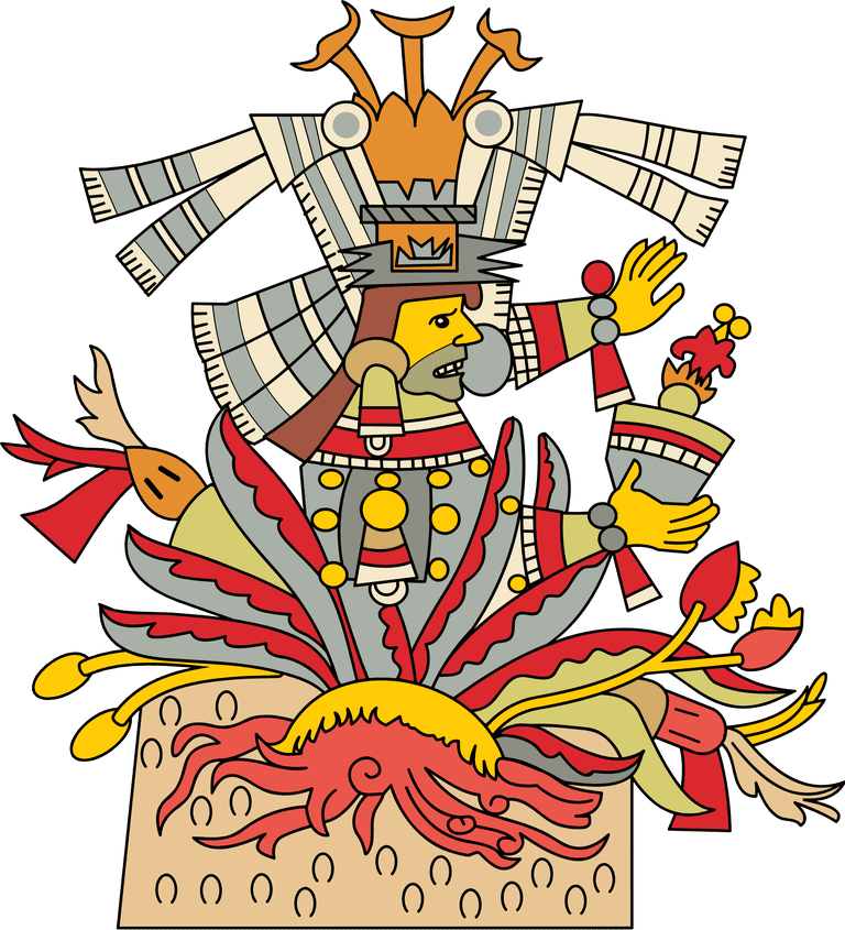 Mayahuel, as illustrated in the Codex Borgia