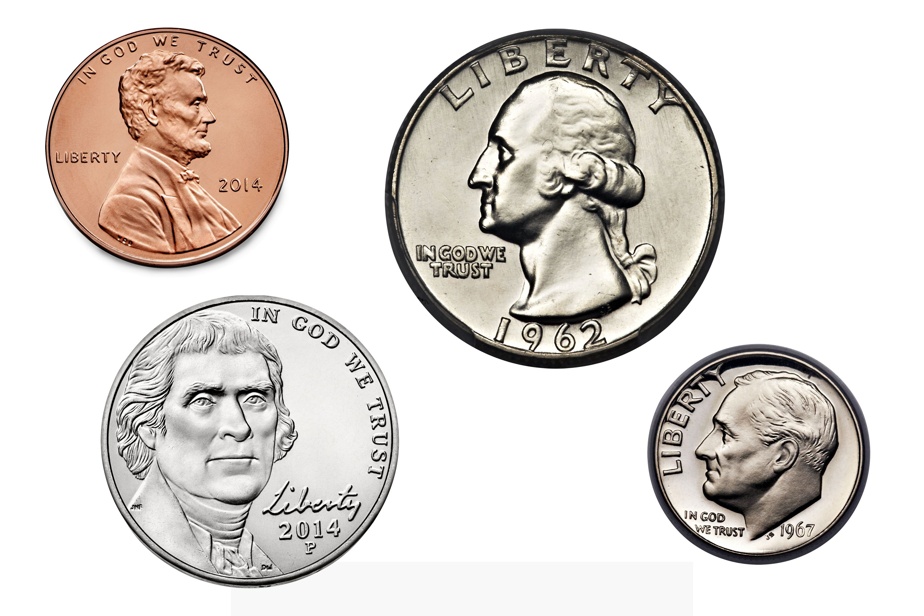 Image result for us coins names and values
