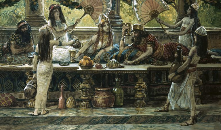 Esther Feasts with the King, painting by James Tissot