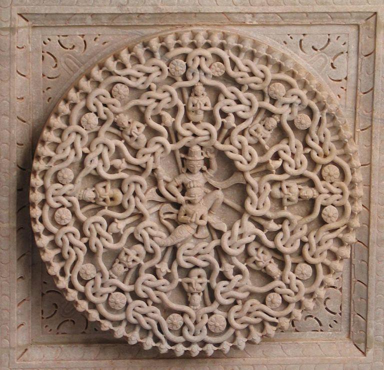 Jain Temple ceiling ornament, Ranakpur, Rajasthan, India