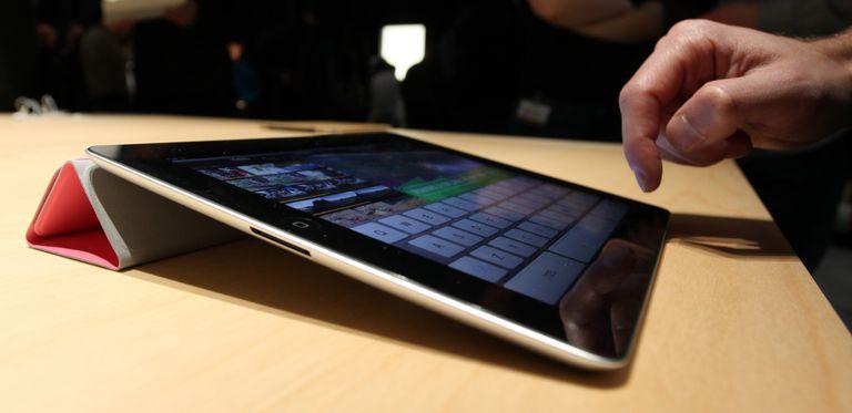Man on iPad