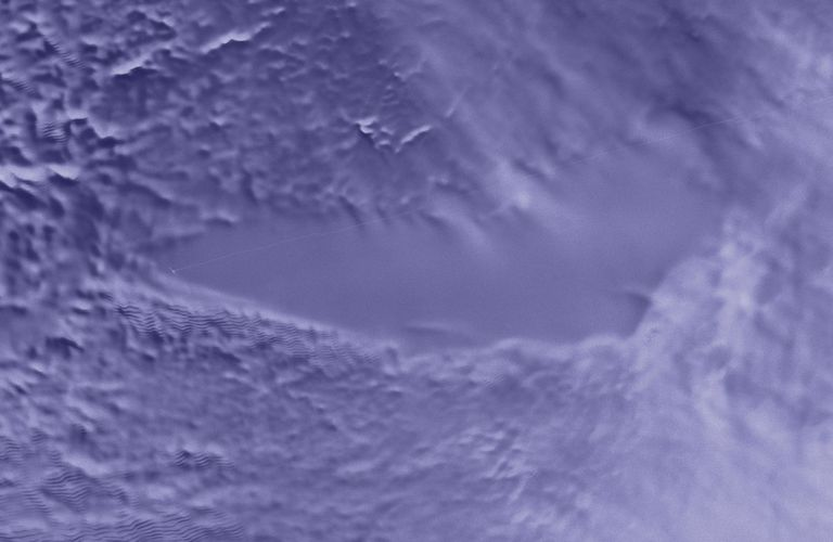 A radar scan that helped uncover the existence of Lake Vostok.