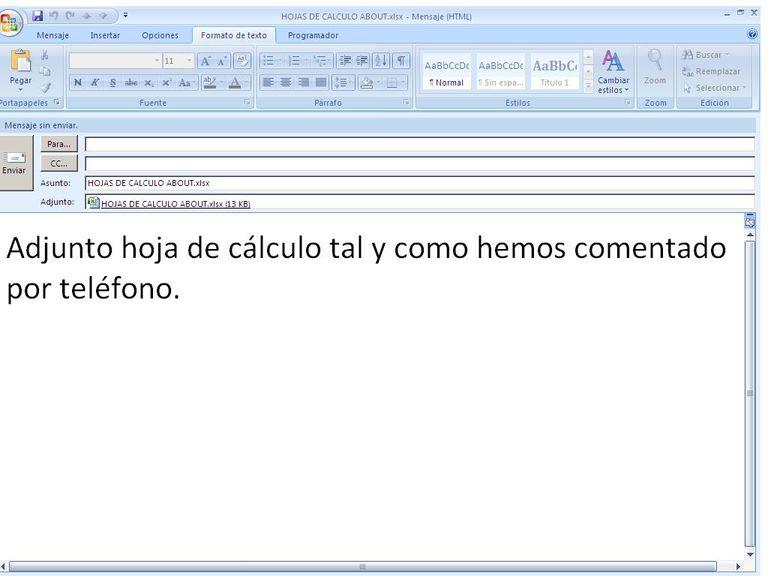 Enviar Excel por email