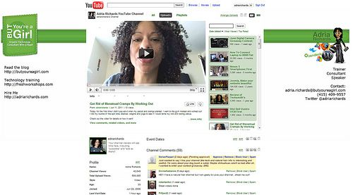 Canal de Youtube de Adria Richards